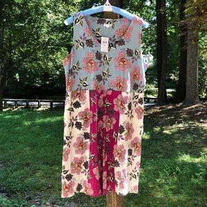 J Jill Floral Sleeveless Knit Dress NWT Pockets